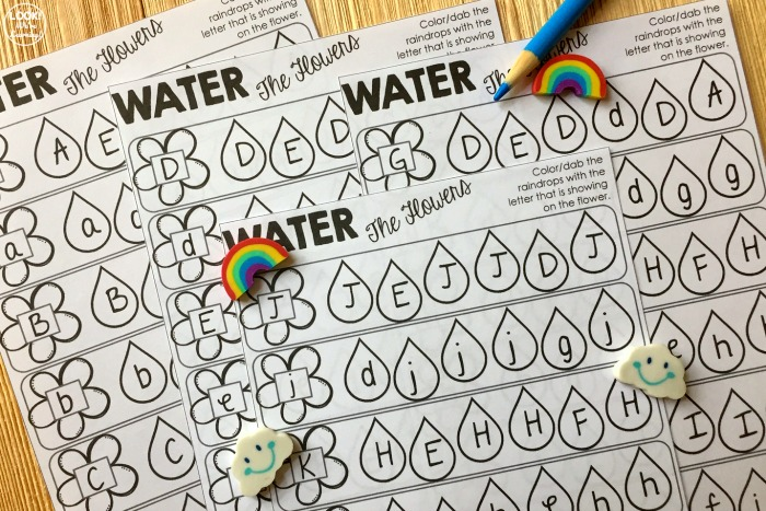 Spring Find the Letter Worksheets for Kids