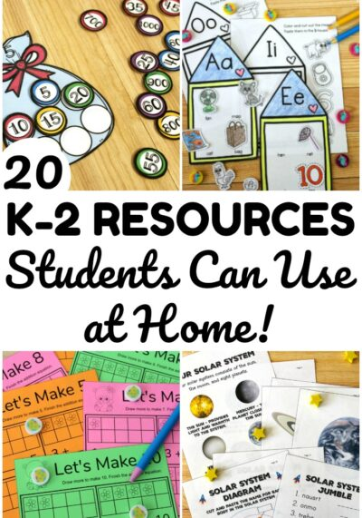 These K-2 learning resources are fun for students who are working on concepts at home! Activities here for math, social studies, science, and ELA!