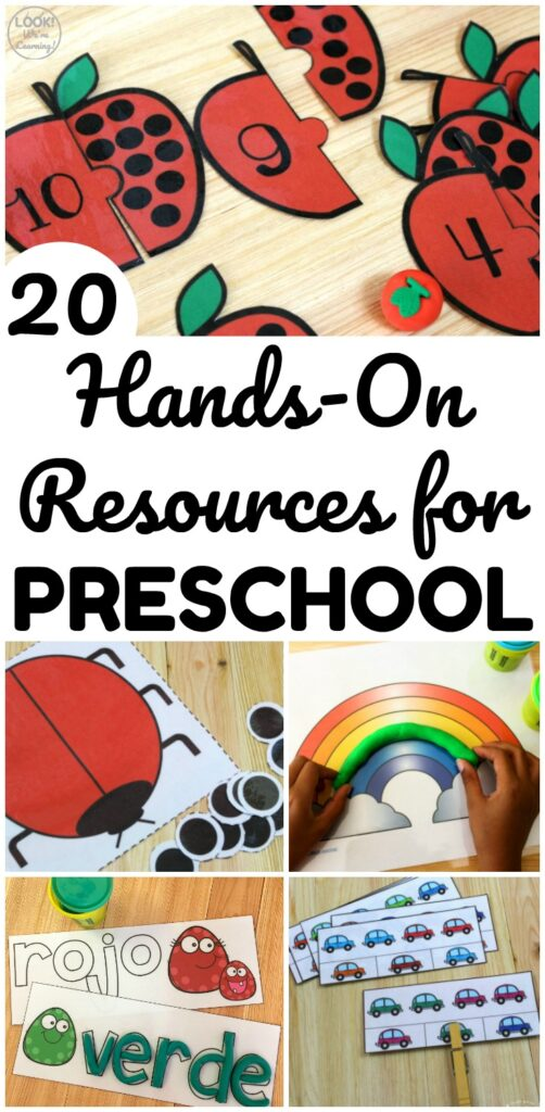 These printable preschool resources are so easy to use! Just print them, prep them, and then start learning!