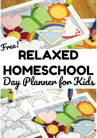 This free printable homeschool day planner makes it easy to structure a day of learning from home!