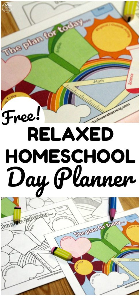 This relaxed printable homeschool day planner for kids is a perfect way to keep your learning days structured without going overboard!