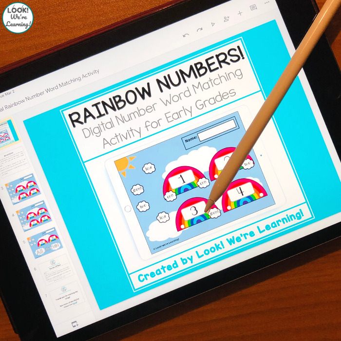 Digital Rainbow Number Word Match