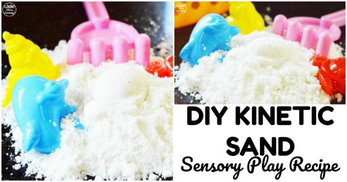 Easy DIY Kinetic Sand Recipe for Kids