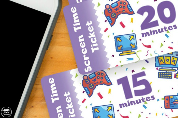 Easy Screen Time Tickets for Kids