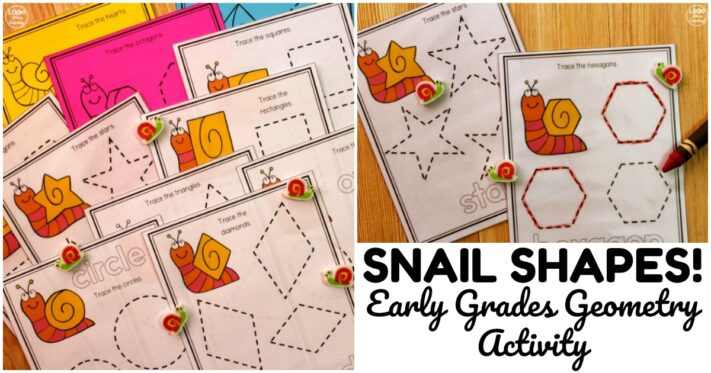 Fun Snail Shape Tracing Worksheets