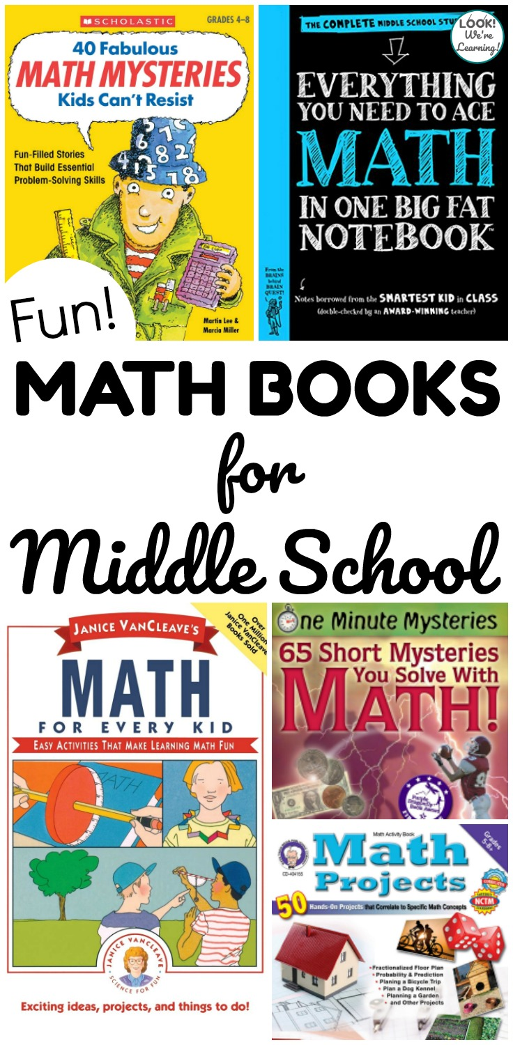 Help tweens learn to love math with these fun math books for middle school! These interactive and funny math books can help kids master concepts and have fun too!