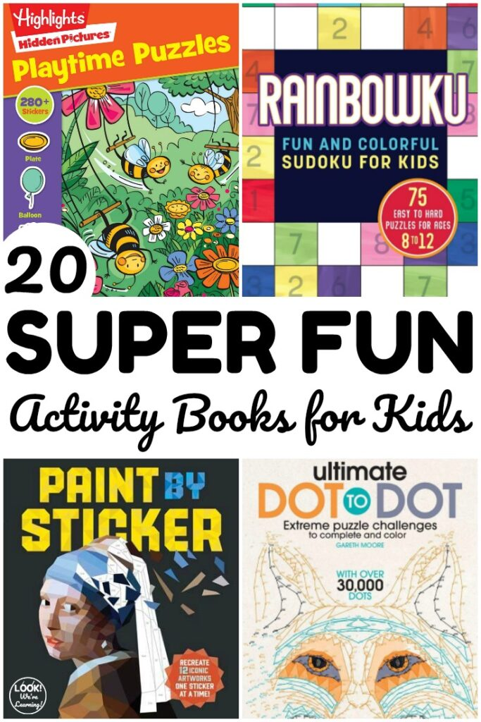 Keep the kids occupied and learning with these super fun activity books for kids! Perfect for quiet time at home!