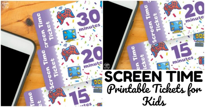 Simple Printable Screen Time Tickets for Kids