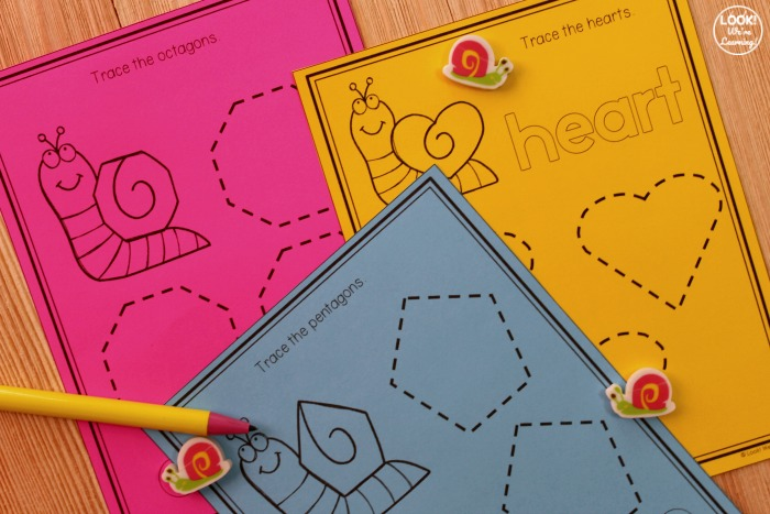 Snail Shape Tracing Printables for Kids
