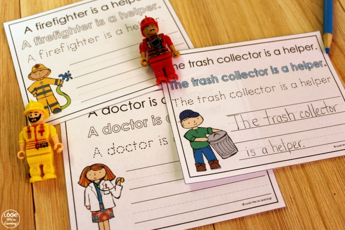 Community Helper Sentence Writing Activity