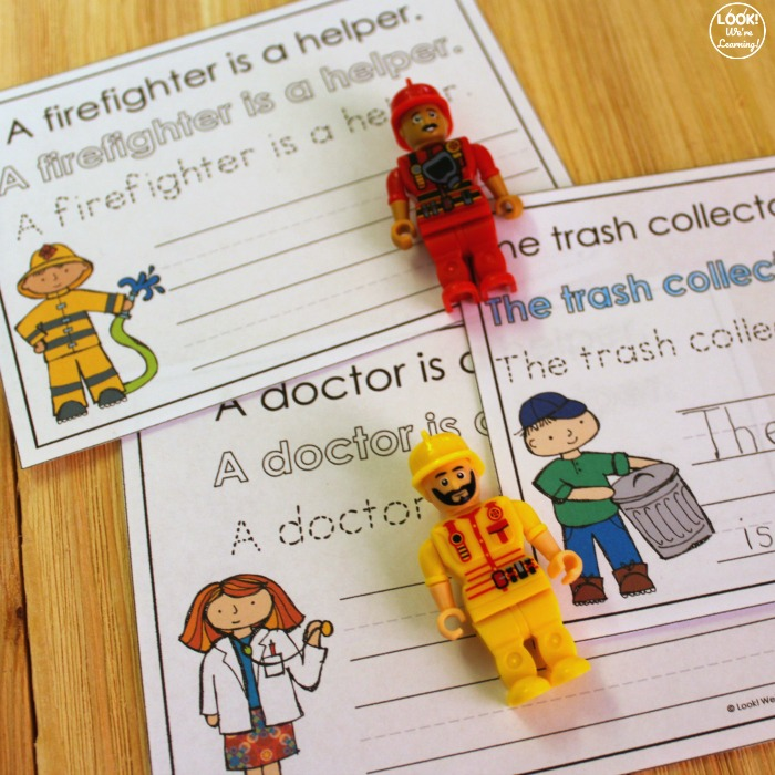 Community Helpers Writing Activity for Kids