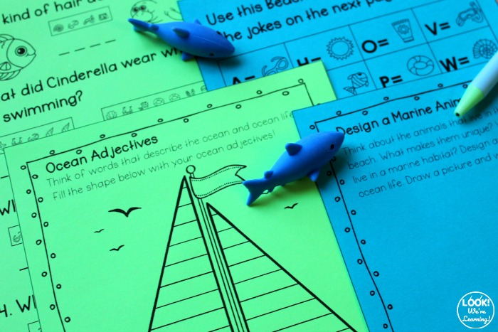 Early Elementary Deep Blue Sea Ocean ELA Activity Pack