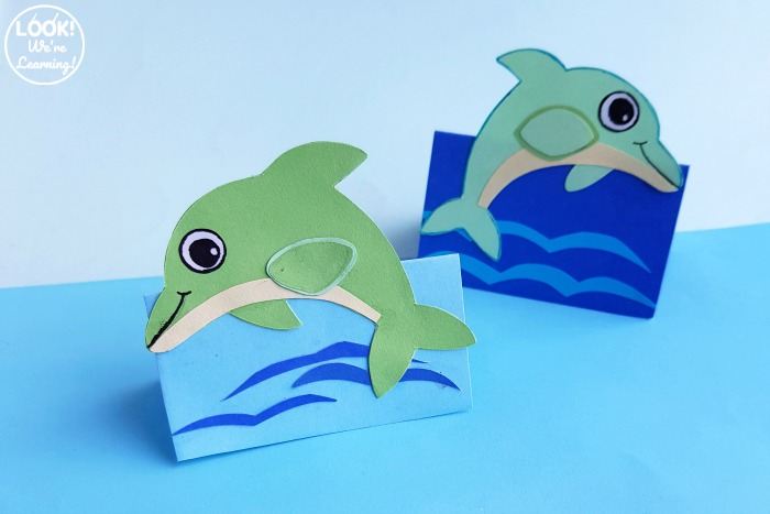 Easy 3D Paper Dolphin for Kids to Make