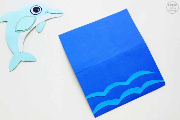 Easy Paper Dolphin to Make With Kids