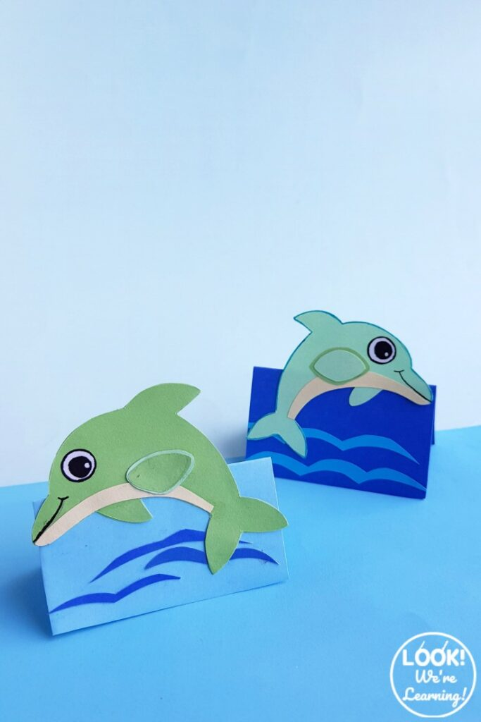 Easy and Fun 3D Paper Dolphin Craft