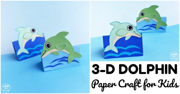Fun 3D Dolphin Craft for Kids