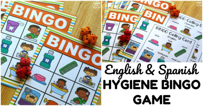 Fun English and Spanish Hygiene Bingo Game
