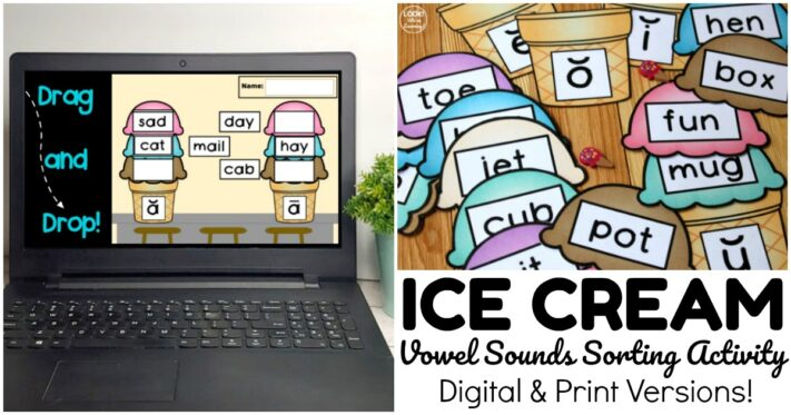 Fun Ice Cream Vowel Sound Sorting Activity
