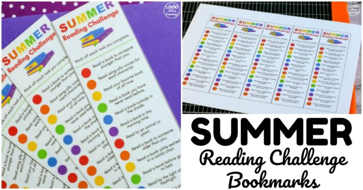 Fun Summer Reading Challenge Bookmarks