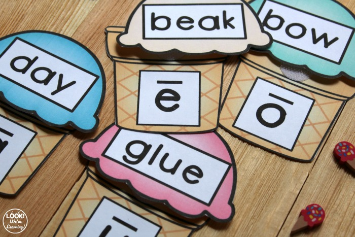 Ice Cream Themed Vowel Sound Activity for Kids