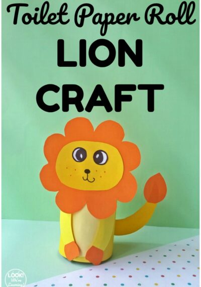 Make this easy toilet paper roll lion craft with the kids for a fun art activity!
