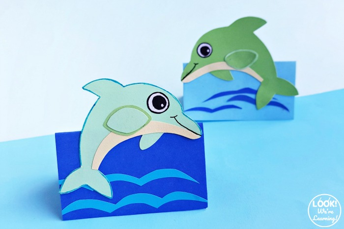 Paper 3D Dolphin Craft for Kids