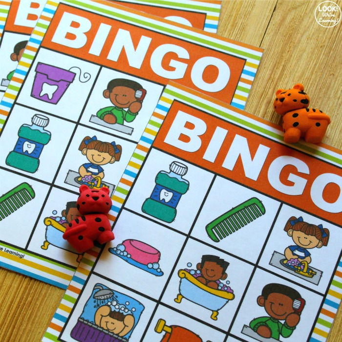 Printable Hygiene Bingo Game for Kids