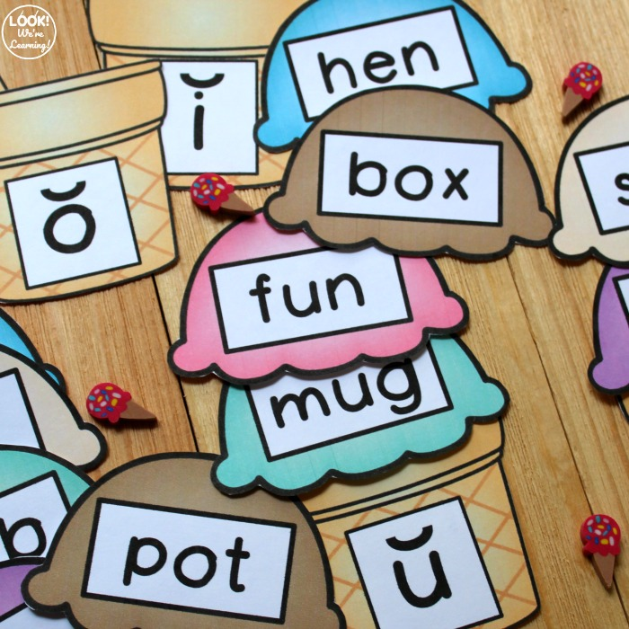 Printable Ice Cream Vowel Sound Sorting