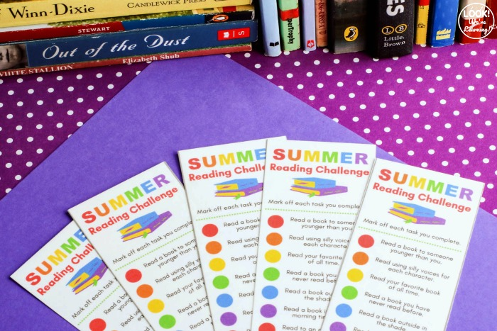 Printable Summer Reading Challenge Bookmark for Kids