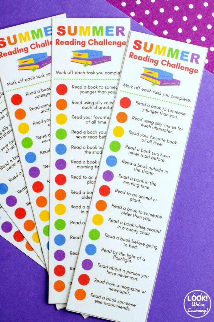 Printable Summer Reading Challenge for Kids