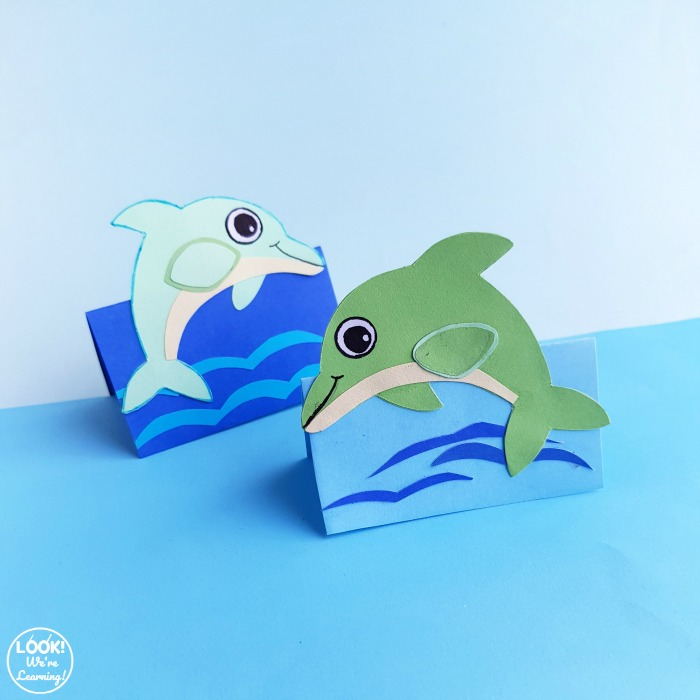 Simple 3D Paper Dolphin Craft for Kids