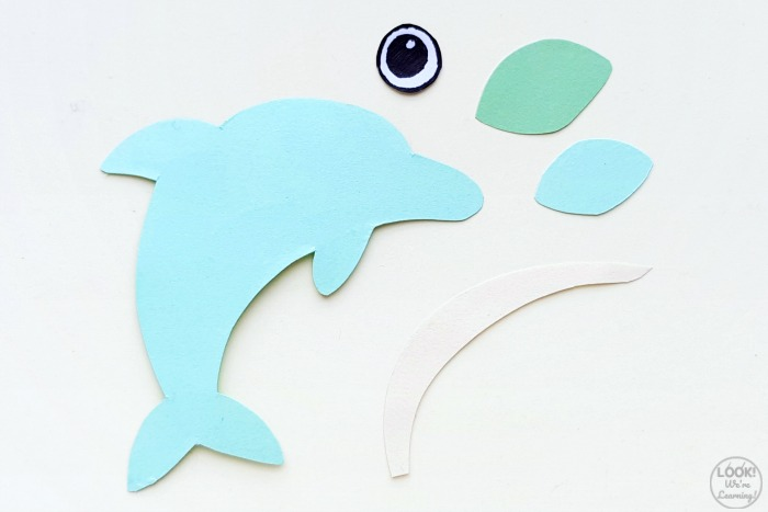 Simple 3D Paper Dolphin Craft