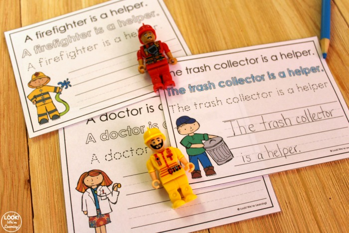 Simple Community Helper Writing Sentences Activity