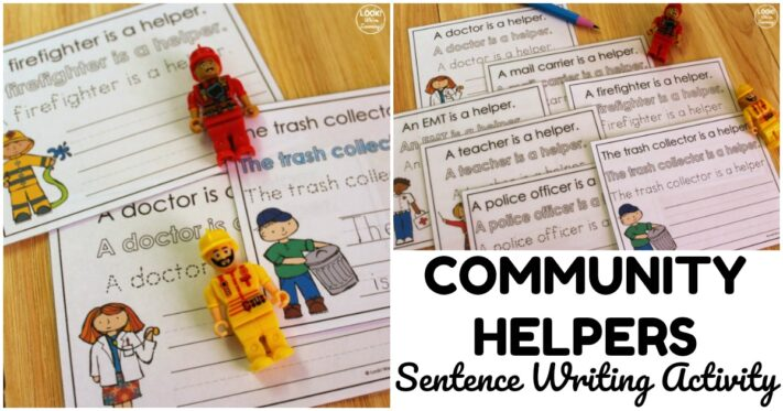 Simple Community Helpers Writing Activity for Kids