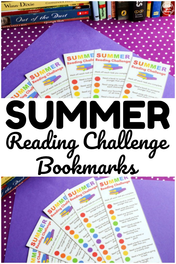 These printable summer reading challenge bookmarks are a fun way to keep kids reading during summer!