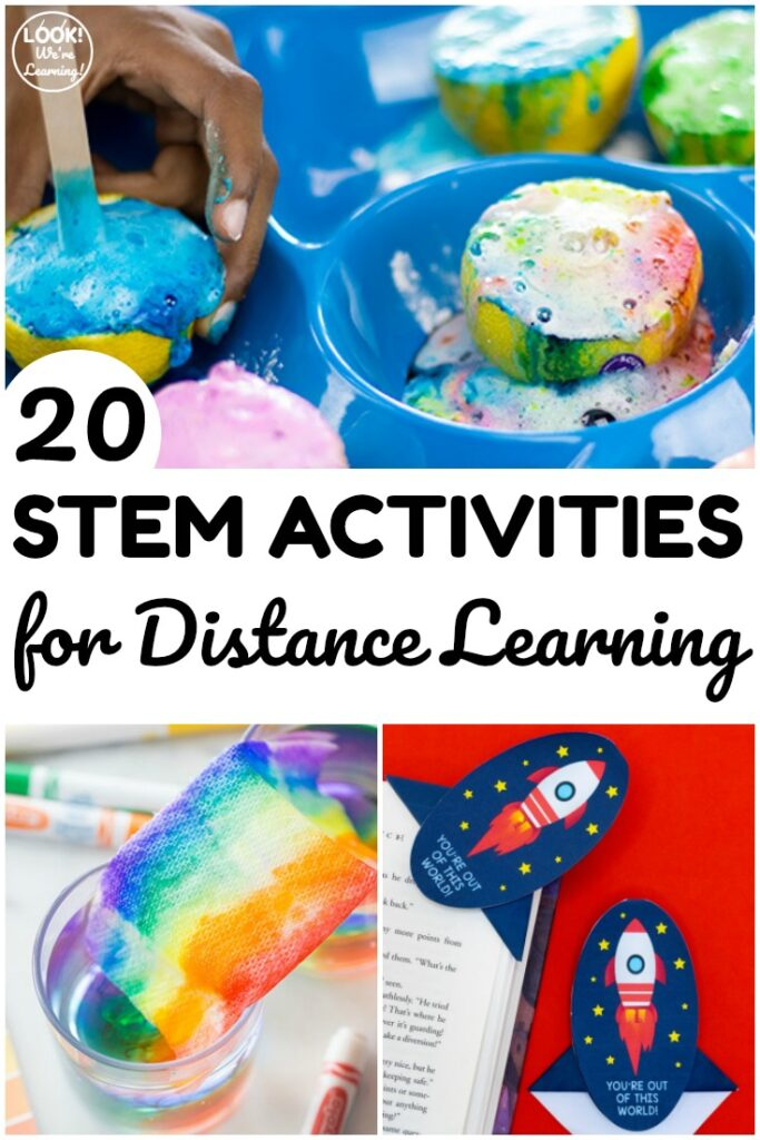 This list of 20 STEM activities for distance learning are fun and easy to help students practice STEM concepts at home!This list of 20 STEM activities for distance learning are fun and easy to help students practice STEM concepts at home!