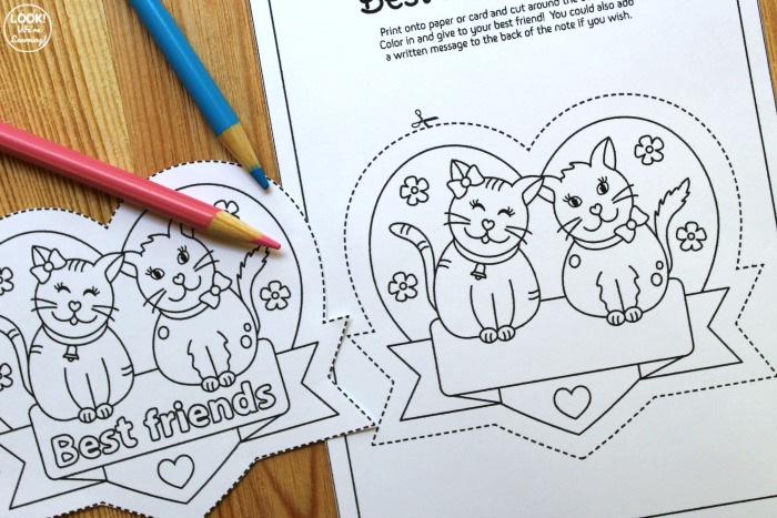 Best Friend Notes for Kids