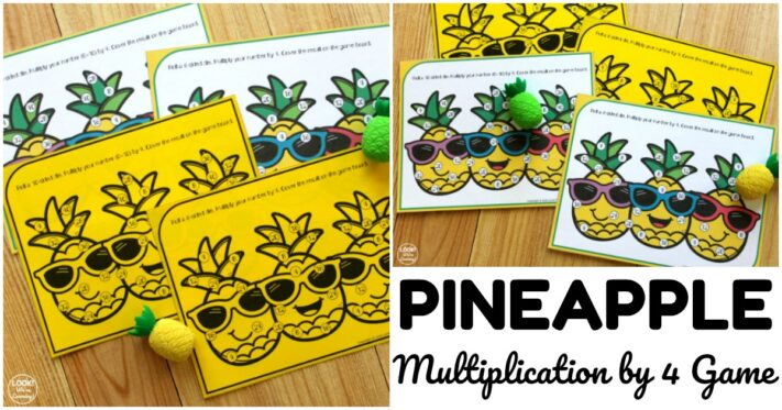 Fun Pineapple Multiplication by Four Game