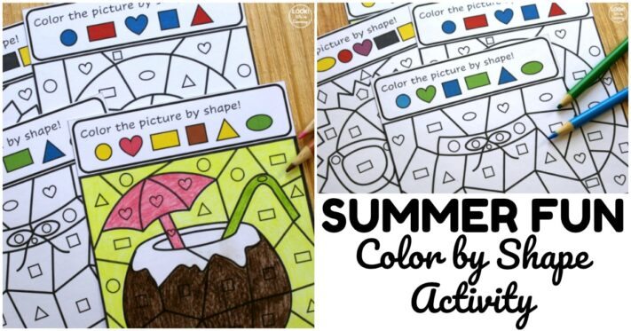 Fun Summer Color by Shape Activity