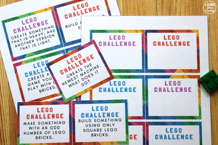 LEGO STEM Challenge Building Cards for Kids