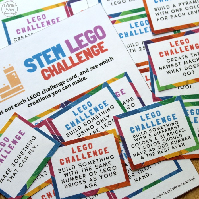 LEGO STEM Printable Building Challenge Cards for Kids