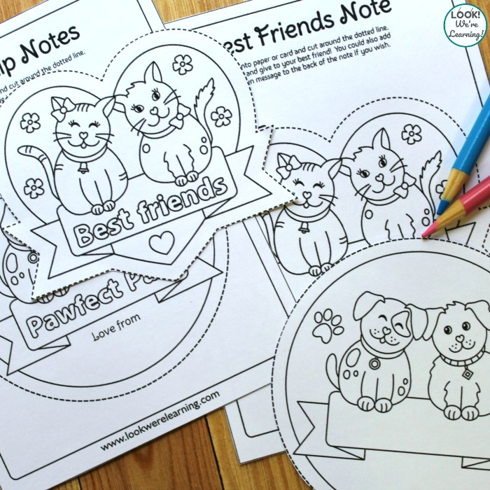 Printable Best Friend Notes for Kids