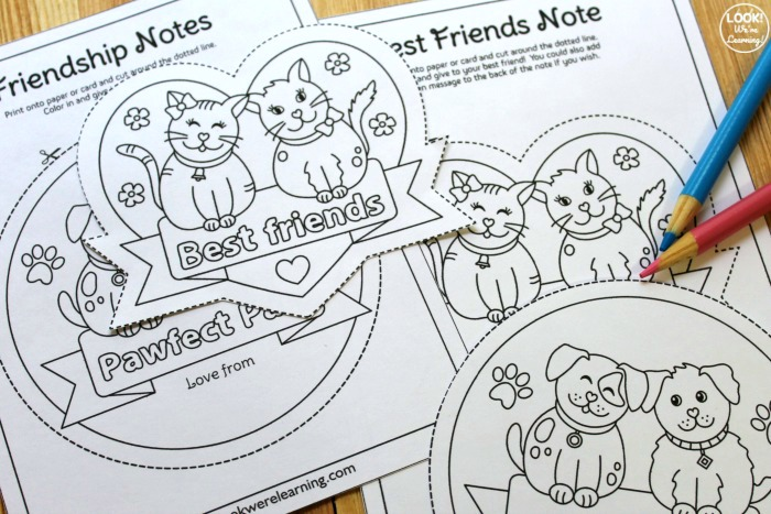 Printable Friendship Notes for Kids