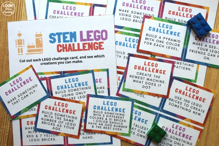 Printable Lego STEM Challenge Cards