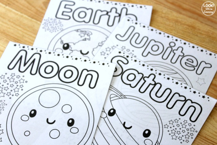 Printable Solar System Coloring and Tracing Pages