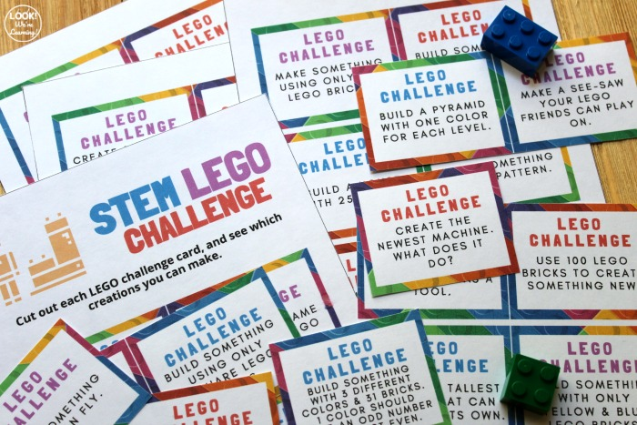 STEM Lego Challenge Building Cards