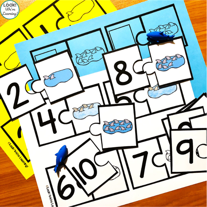 Shark Counting to Ten Activity