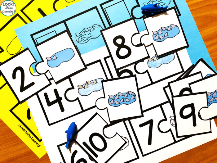 Shark Themed Counting Puzzles