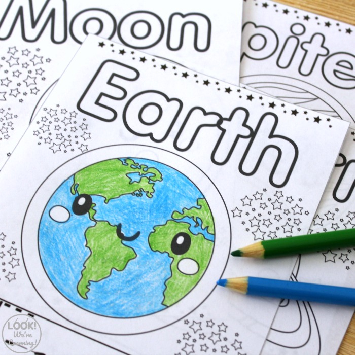 Solar System Coloring and Tracing Pages for Kids