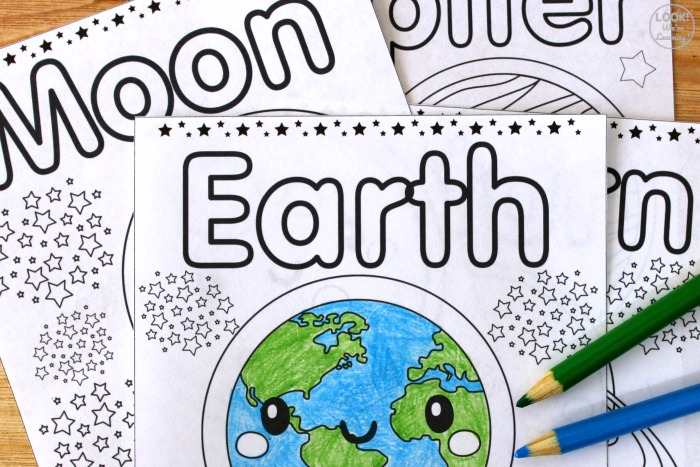 Solar System Tracing and Coloring Pages for Kids
